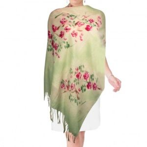 New! Beautiful Hand-painted Spring Pashmina Floral